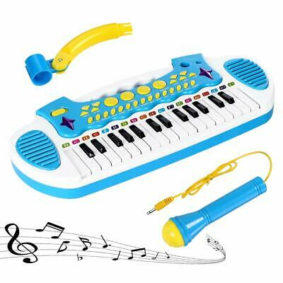 LoveMini Piano Toy Keyboard For Kids Multifunctional Music Instruments With Mic