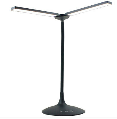 Alba Nomad Two Head Desk Table Work Lamp Black LEDTWIN Battery Powered