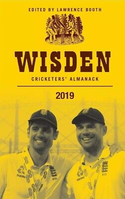 Wisden Cricketers' Almanack 2019 by Lawrence Booth. Hardback.