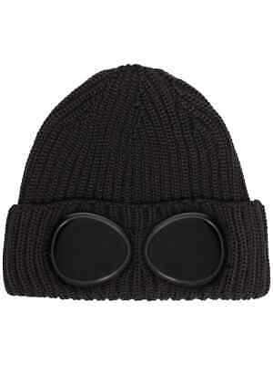 C.P. Company beanie hat Ribbed Wool Goggle BLACK UK SELLER  2019