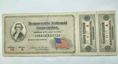 1900 Democratic National Convention Guest Ticket - Kansas City