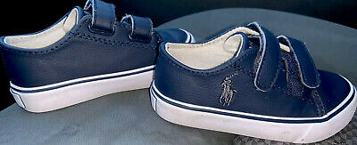 Polo Ralph Lauren•Toddler•Fantor EZ•Velcro•Slip-ON•Sneakers•Navy•SZ 7M•GRT CNDTN
