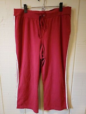 Motherhood Maternity Athletic Pants Red With White Stripes Size Large