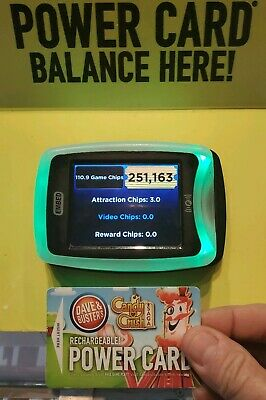 282,??? TICKETS. Dave & Busters RARE Power Card w/ chips WOW...