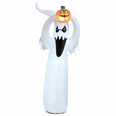 6 Inflatable Ghost Lightup Lantern Halloween Air Blown Decoration for Yard