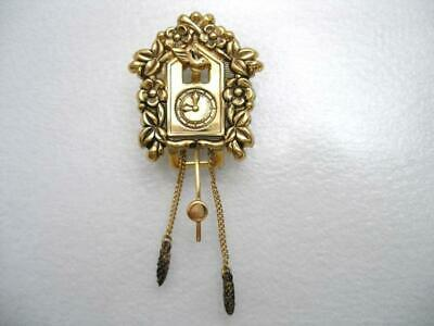 Coro Pegasus Fur Clip Articulated Weights Pendulum Golden Cuckoo Clock Sb2455