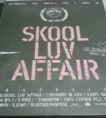 Skool Luv Affair bts album + Jonas brothers happiness begins album