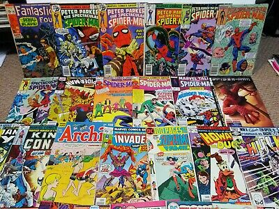 Huge Bronze Age Comic Book Lot 30+ Spiderman Fantastic Four Shazam Superman Hulk