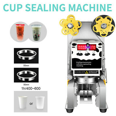 Commercial 450W Automatic Electric Tea Milk Cup Sealer Sealing Machine USA