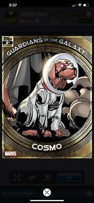 Topps Marvel Collect Cosmo GUARDIANS GALAXY GOLD 2nd Printing [DIGITAL] 750cc