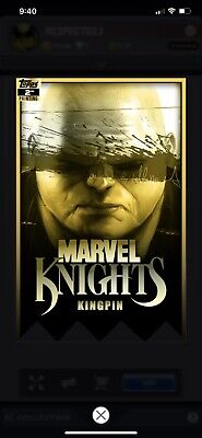 Topps Marvel Collect Kingpin MARVEL KNIGHTS 2nd Printing [DIGITAL CARD] 750cc