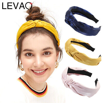 Ladies Knot Headband Fabric Hairband Solid Head Band Hair Band Accessories Plain