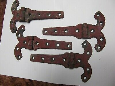 "Vintage Salvaged 8"" Solid Brass Ornate Hinges --Gothic Look---steampunk"