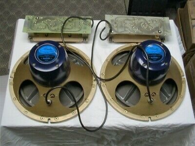 """Tannoy HPD Series """"Monitor Royal"""" 12"""" Speaker Drive Units and Crossovers - RARE!"""