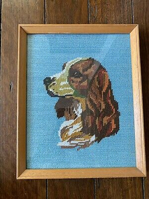Vintage Dog Tapestry Picture - Cocker Spaniel - Dog  Tapestry Picture In Frame
