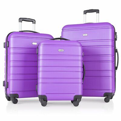 "3 PCS Luggage Set Travel Bag Spinner Trolley Carry on Suitcase 20"" 24"" 28"""
