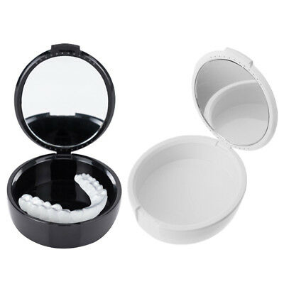 Dental denture box with mirror artificial teeth container teeth case containe~JP