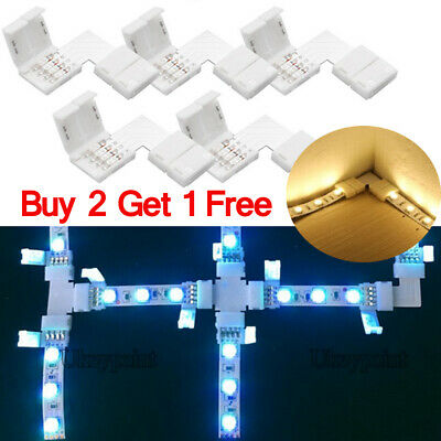 1//5//10pc 5050 RGB LED Strip Light Corner Connectors L Shape Adapters 90º Joint