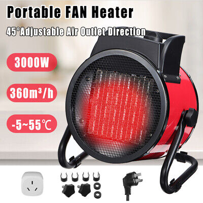 3000W Electric Portable Industrial Space Heater Ceramic Heating Fan Warmer