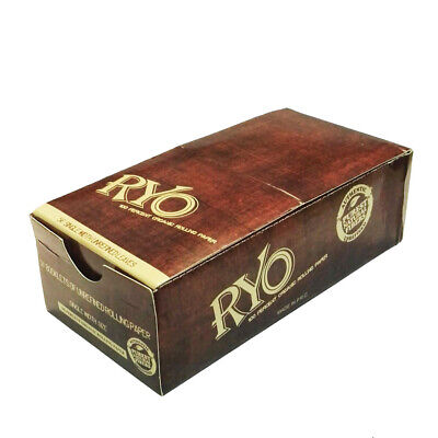 "1 Box ""Pure Natural Fibers"" HEMP Rolling Papers 70*36mm 50 Booklets RYO"