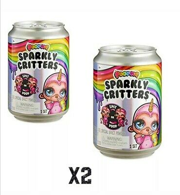 2 x NEW Poopsie Slime Surprise Sparkly Critters - 16 to collect! RRP £15 each