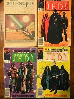 Return of the Jedi comics four issue set