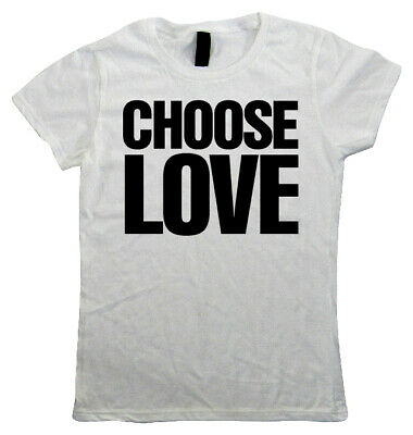Choose Love, Womens T Shirt - Music Festival Peace 80s Pop Hipster Swag Gift Her