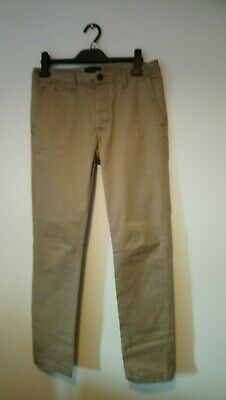 River Island Straight Fit Cotton Trouser Chinos in Beige , W30 L32