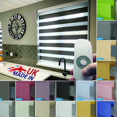 Motorised Premium Made to Measure Day and Night Vision/Zebra Window Roller Blind