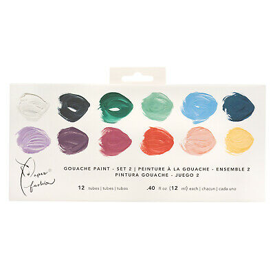 American Crafts Paper Fashion Collection Set 2 Gouache Paints - Pack of 12 Tubes