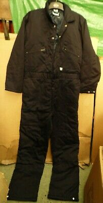 Navy Blue Lined Boilersuit/Coverall By Castle Clothing Uk