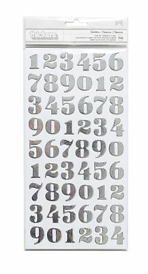 American Crafts Motion DIY 3 Silver Foil Number Thicker 108 Piece