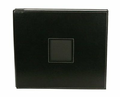 """American Crafts We R Memory Keepers Leather Scrapbook Album Post Bound 12"""" x 12"""""""