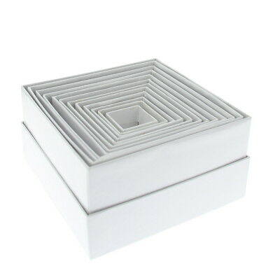 American Crafts DCWV Nesting Box - Gift Souvenir Craft Scrapbooking - White