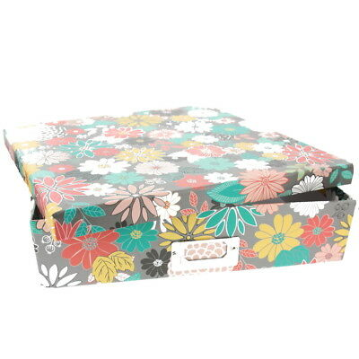 "American Crafts DCWV 12""x 12"" Garden Floral Box Holder Storage Metal Plate Multi"