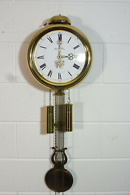 Old Comtoise Wall Clock Dutch Movement Vintage Old Clock