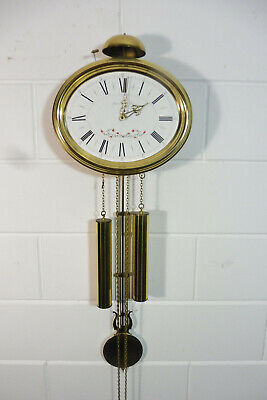 Wall Clock Comtoise Franz Hermle German Clock Vintage Wall Clock