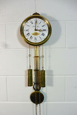 Small Wall Clock Comtoise Dutch Movement Clock Vintage Old Clock