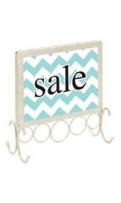 "4 Countertop Signs Sign Holder Ivory 7 ¼ x 7 Fits 5 ½ x 7"" Signs Picture Retail"