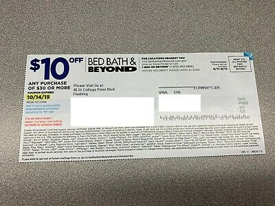 Five (5) Bed Bath & Beyond $10 Off $30 Coupons