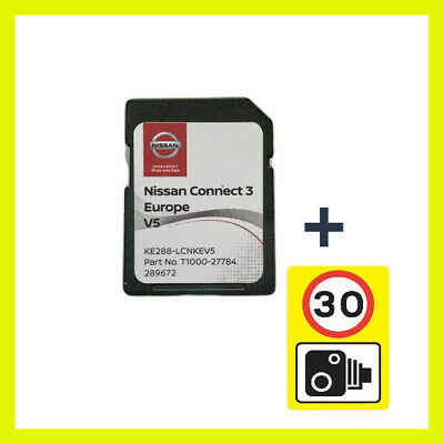 2020 2019 V4 Nissan Connect 3 Sd Card Europe Maps Lcn2-Kai Sat Nav +Speed Camera