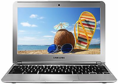 Refurbished SAMSUNG CHROMEBOOK 11.6 LAPTOP HDMI Webcam WiFi Bluetooth HD Silver