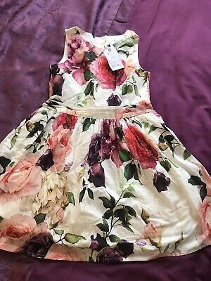 Bnwt Next Girls Floral Prom Dress Age 8 Years