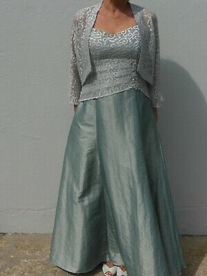 Mother Of Bride Outfit Size 14,Dress,Jacket,Hat,Bag,Shoes Size 38 (5)