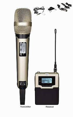 UHF Wireless Handheld Microphone for DSLR Camera Camcorder Interview Recording