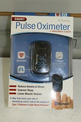 iChoice Bluetooth Smart Pulse Oximeter w/Relaxation Coach Heart Rate Oxygen