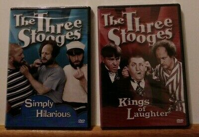 THE THREE STOOGES LOT :Simply Hilarious/Kings of Laughter( DVD 2000)FS/ New