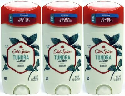 3 Old Spice TUNDRA With Mint Deodorant