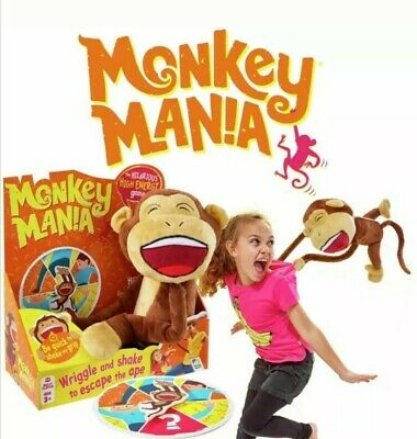 Monkey Mania Game 1+ Players 3+ Years Plush Electronic Sound Kids Spinner Toy
