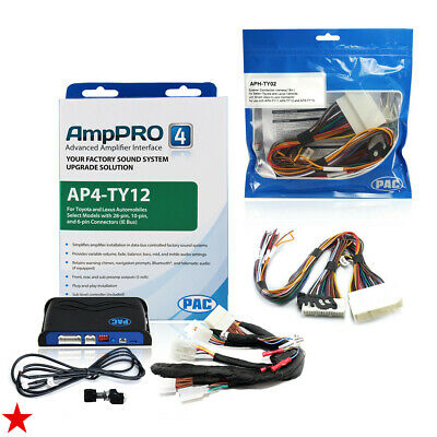 PAC Advanced Amplifier Integration Adapter & Speaker Wire Harness for Toyota